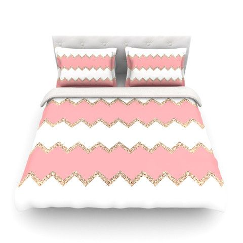 "Monika Strigel ""Avalon Coral Chevron"" 