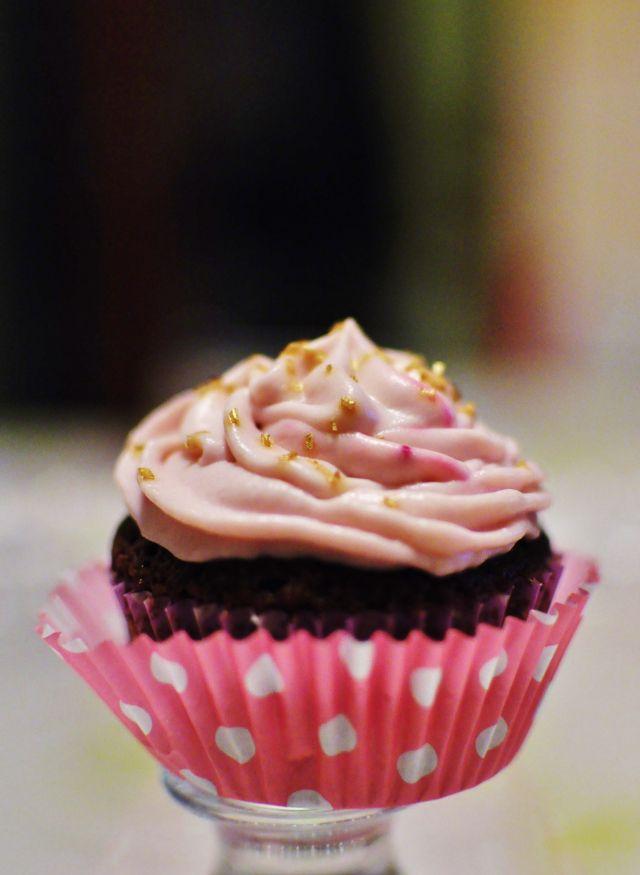 Chocolate cupcake with Mascarpone frosting