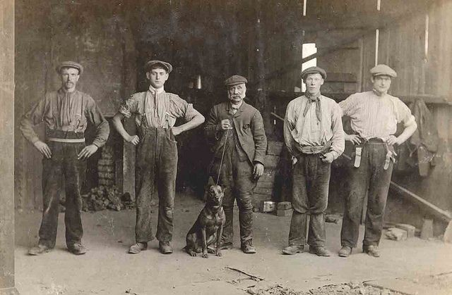 Durham miners by Libby Hall Dog Photo, via Flickr