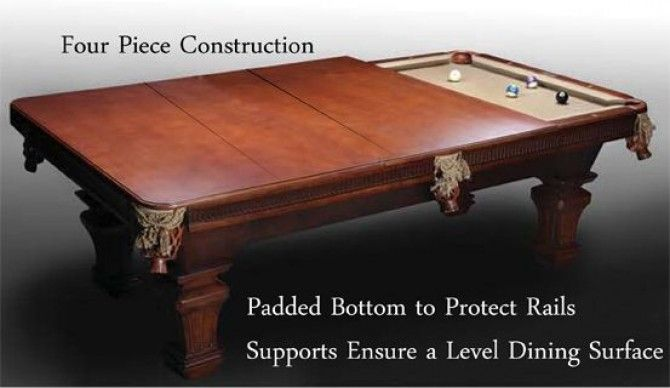 7 Pool Table Conversion Dining Top Antique Walnut In 2019