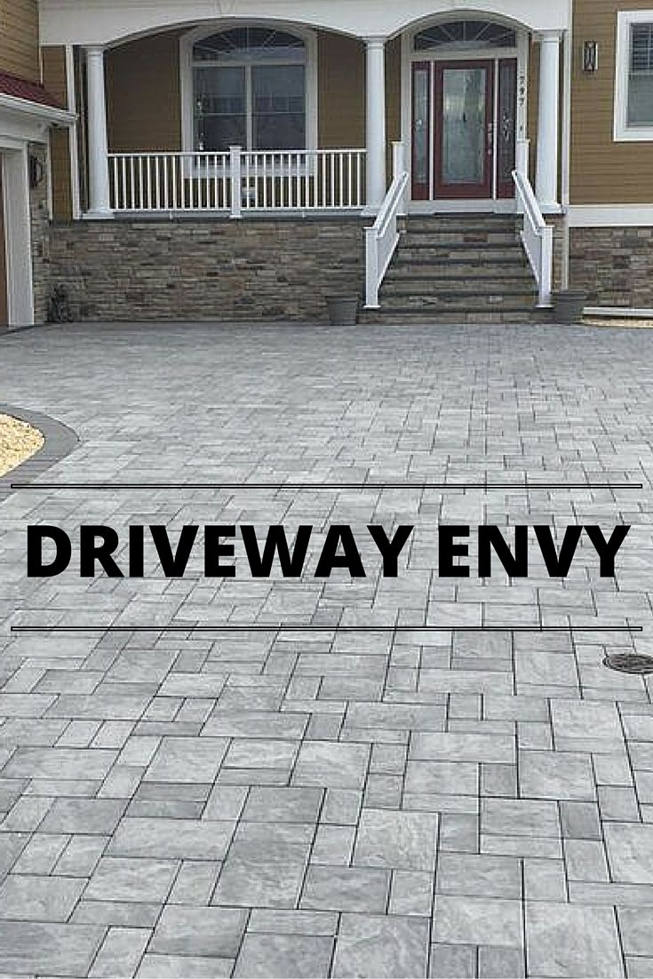 Who has driveway envy for this amazing Cambridge Pavingstone Driveway?!
