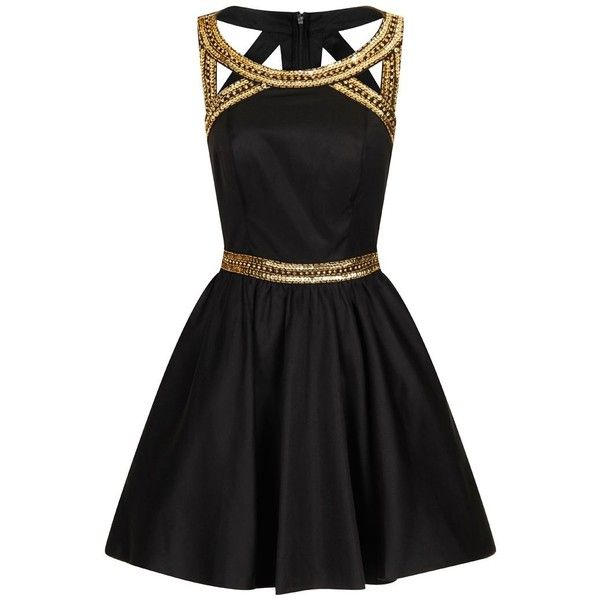 Chi Chi London Gold sequinned party dress and other apparel, accessories and trends. Browse and shop related looks.