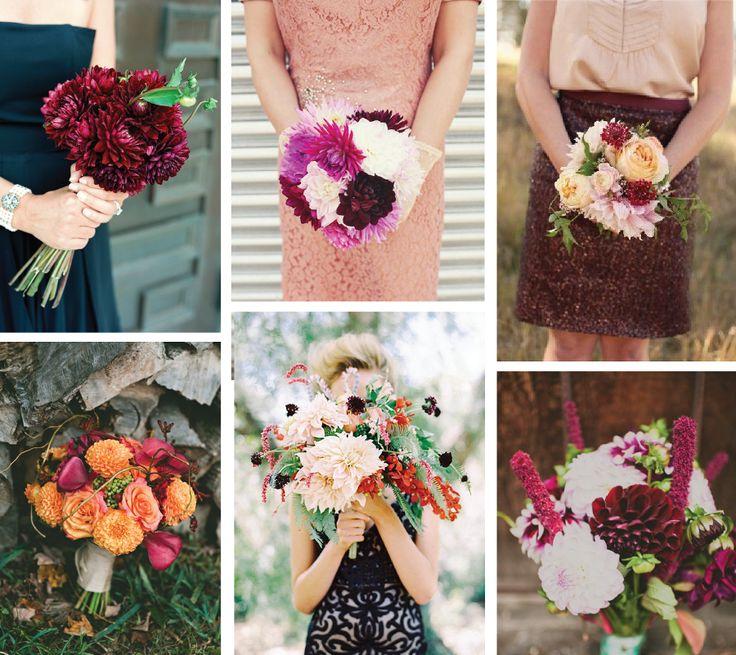 Brautstrauß für den Herbst 2013! Colour-Blocking mit Dahlien .. #Dahlien #Brautstrauß #Herbst #2013