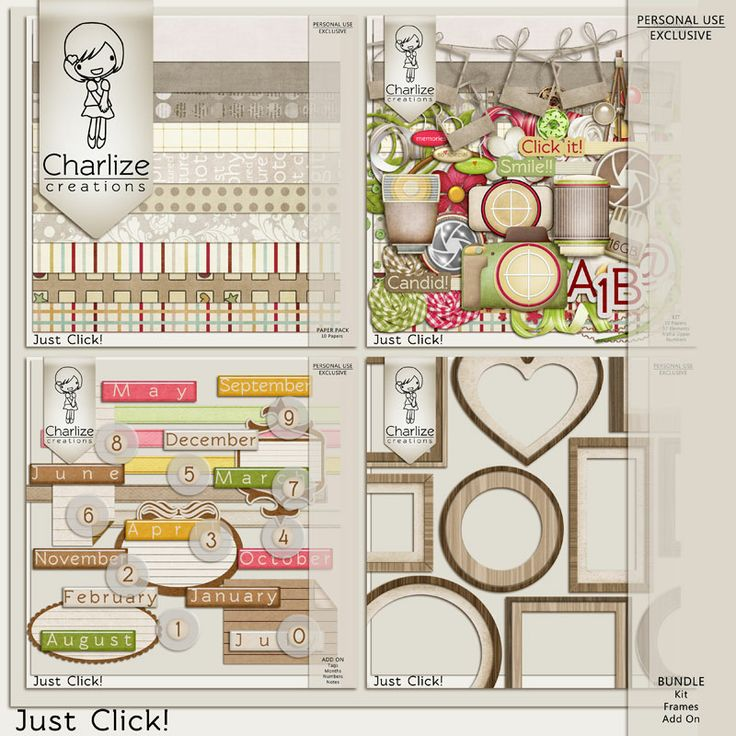 Oscraps :: Shop by Designer :: Charlize Creations :: Just Click! Bundle