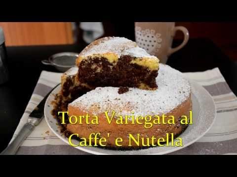 TORTA VARIEGATA NUTELLA e CAFFE' PER LA FESTA del PAPA'
