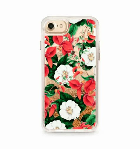Floral Glitter Phone Case @casetify #casetify #clearcases #mobilecases #83oranges