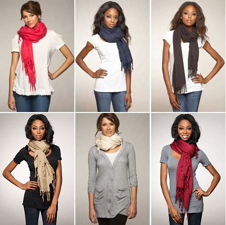 Learn various ways to wear your scarf.