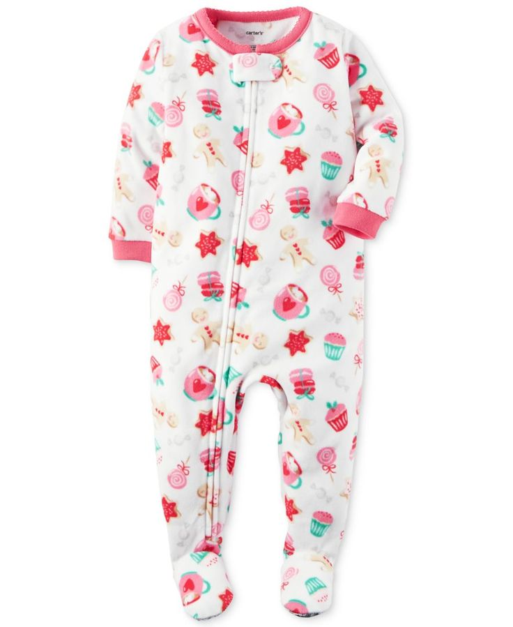 Carter's 1-Pc. Snack-Print Footed Pajamas, Little Girls (2-6X) & Big Girls (7-16)