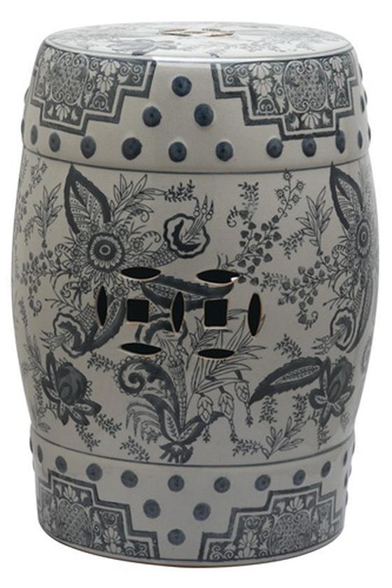 Pagoda Garden Stool - Ceramic Garden Stool | HomeDecorators.com