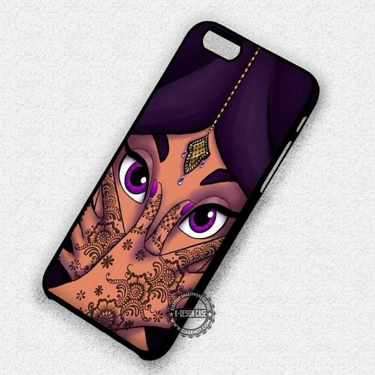 Princess Face Purple Beautifull Jasmine Princess - iPhone 7 6s 5c 4s SE Cases & Covers