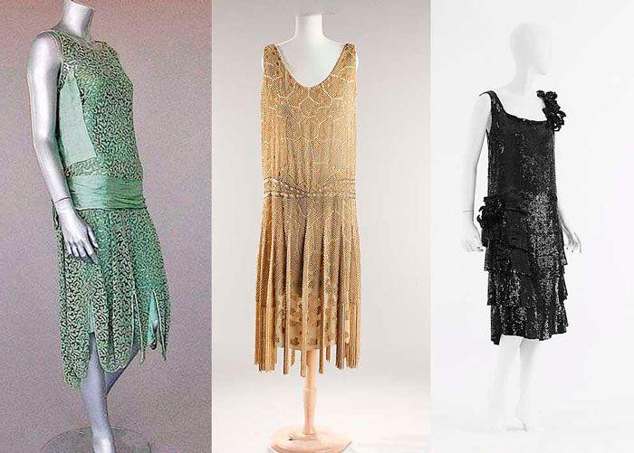 платья-чарльстон 1920-х годов
