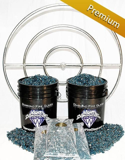 Fire Pit Glass Kit With 36 Inch Ring 150 Lb Premium Kit Glass Fire Pit Steel Fire Pit Ring Stainless Steel Fire Pit