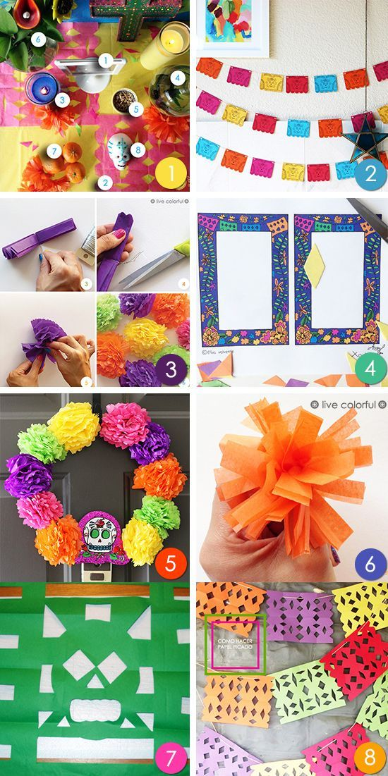 DIY: 8 Day of the Dead Projects (Día de Muertos) +  How to Make a Day of the Dead Altar?  A list of materials and what they represent in this celebration    Live Colorful
