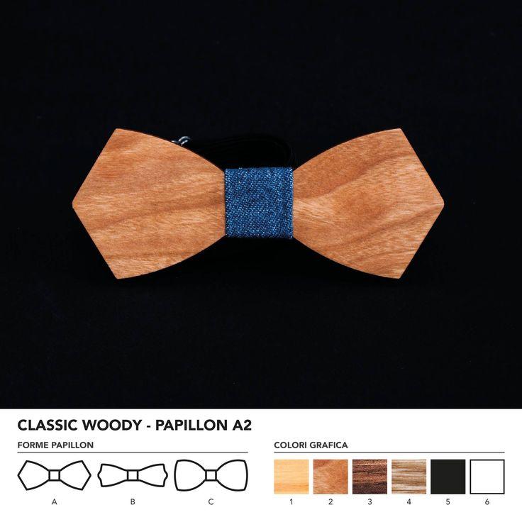 CLASIC WOODY - PAPILLON A2    Papillon in legno di ciliegio.   Nodo centrale personalizzabile in base alle vostre esigenze e alle nostre disponibilità.    N.B. Usando legno massello naturale ogni prodotto presenta diverse venature e sfumature di colore, rendendo così ogni papillon unico è diverso dagli altri.