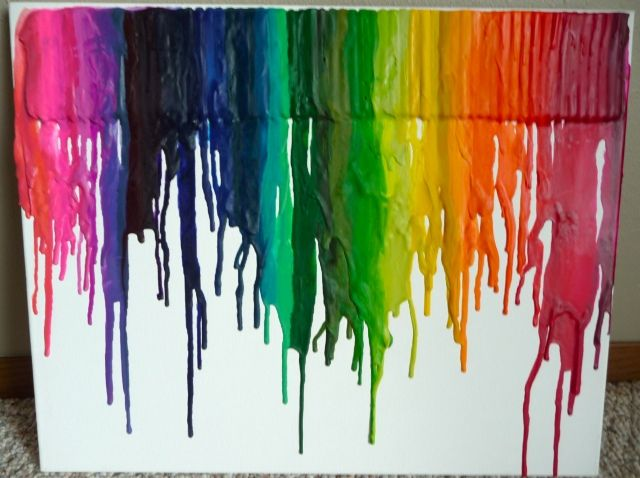 artwork from melted crayons