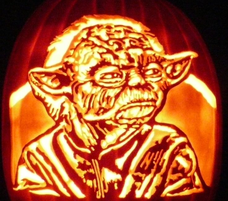 Carved pumpkin i started yoda last year but didn t get