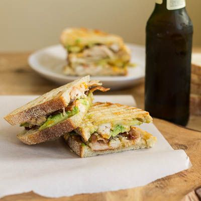 Chicken Bacon Panini with Chipotle Mayo and Avocado