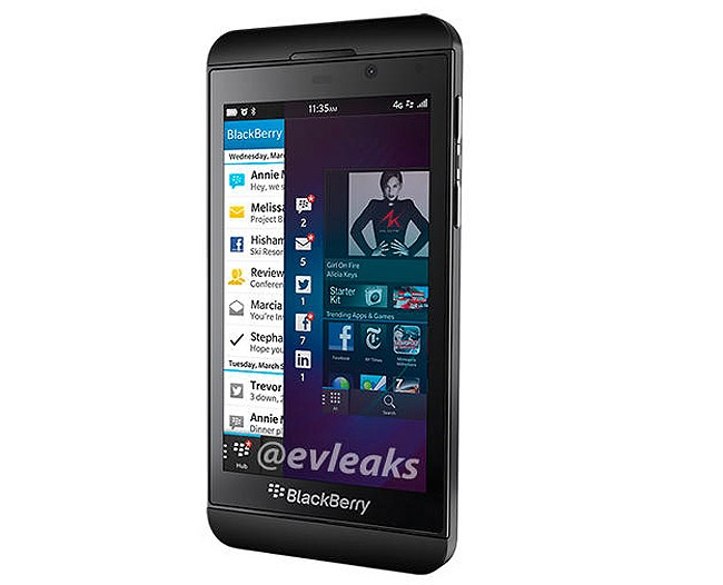 Primeras imágenes oficiales de la Blackberry Z10