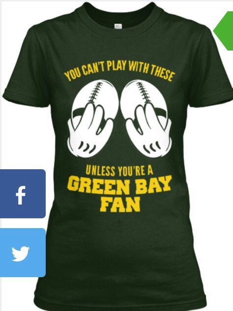 Funny Green Bay Packer tees