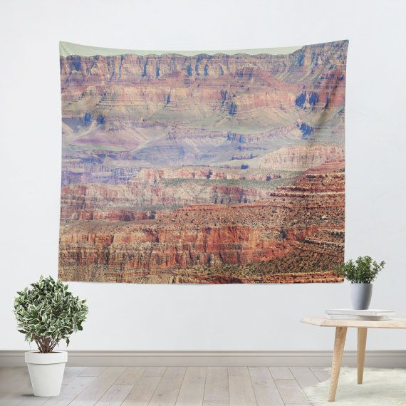 Grand Canyon 2 photo Tapestry Wall Hanging  Available in three distinct sizes, our Wall Tapestries are made of 100% lightweight polyester with hand-sewn finished edges. Featuring vivid colors and crisp lines, these highly unique and versatile tapestries are durable enough for both indoor and outdoor use. Machine washable for outdoor enthusiasts, with cold water on gentle cycle using mild detergent - tumble dry with low heat.  This listing is made to order so please allow 14 to 21 day to…