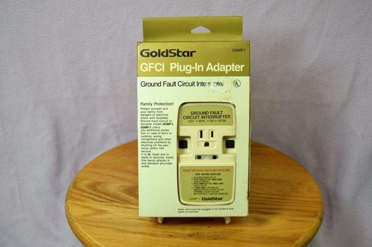 GoldStar GFCI Plug-In Adapter GSMP-1 125V 15A 1875W #GoldStar