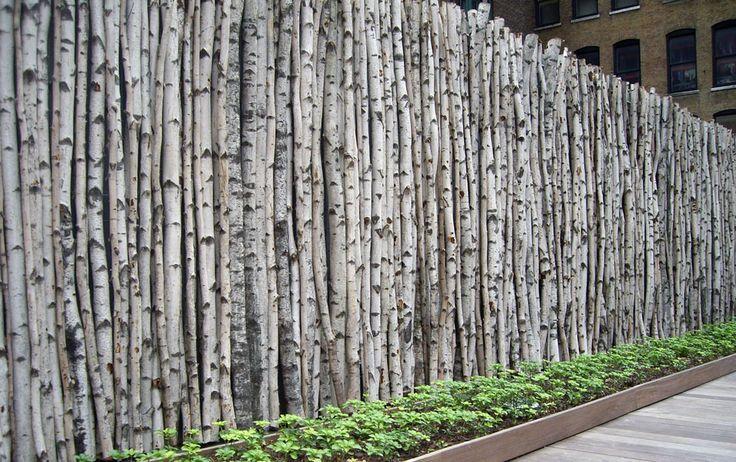 birch fence. thomas balsley associates. so cool…