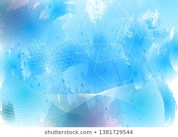 Abstract Watercolor Background With Geometric Pattern Texture For