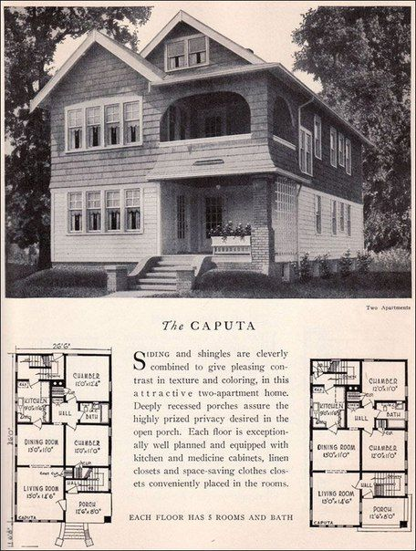 15 best historic duplexes images on pinterest floor for Kit homes duplex