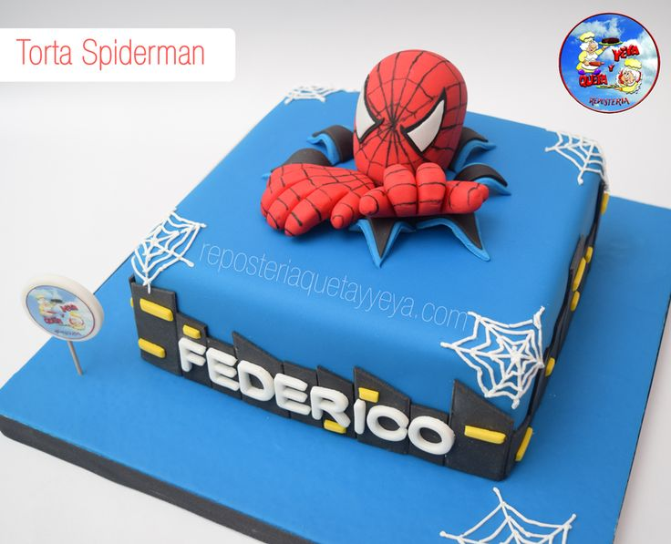 Birthday Cake Designs Spiderman : Pi? di 25 fantastiche idee su Torta Spiderman su Pinterest ...
