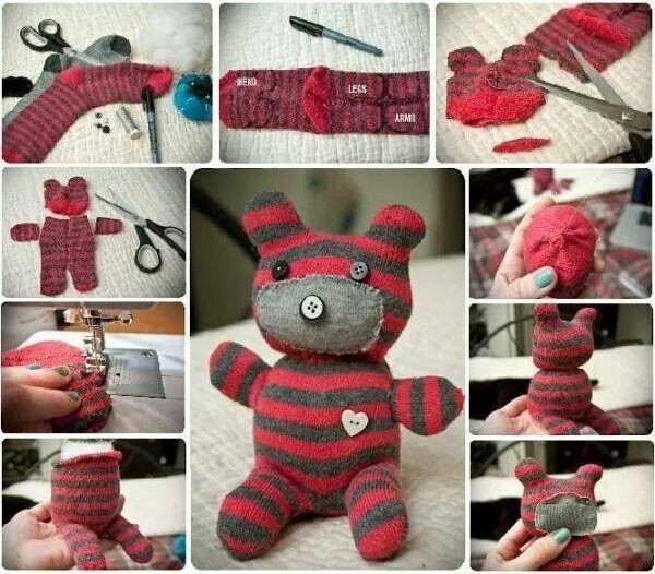 Ein Teddy aus ner Socke :)