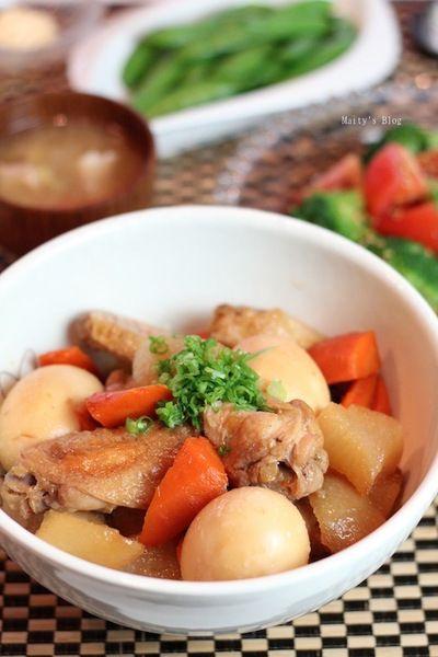 鶏手羽と大根、卵の煮物 by マイティさん | レシピブログ - 料理ブログ ...