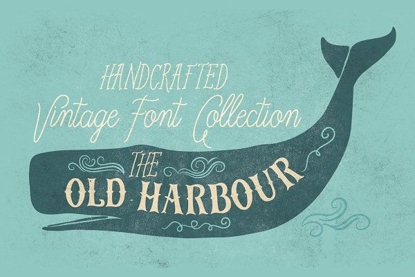 Old Harbour vintage font collection by Anastasia Dimitriadi on @creativemarket