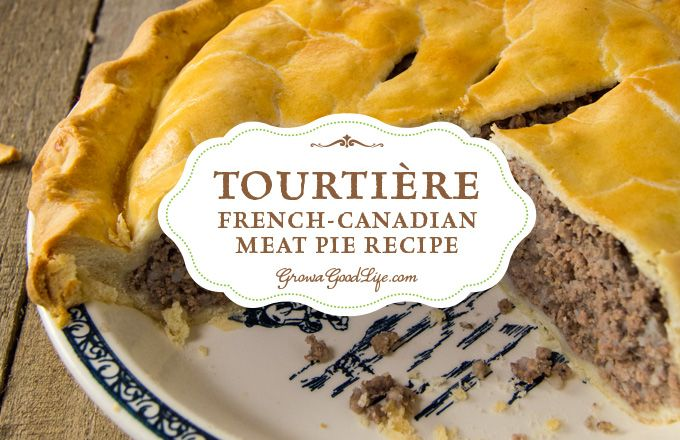 Tourtière, also known as pork pie or meat pie, is a combination of ground meat, onions, spices, and herbs baked in a traditional piecrust.