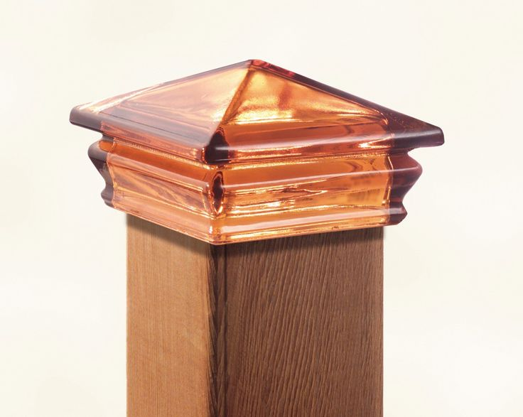 Beautiful Amber Glass Post Cap For Deck Fence Or Garden