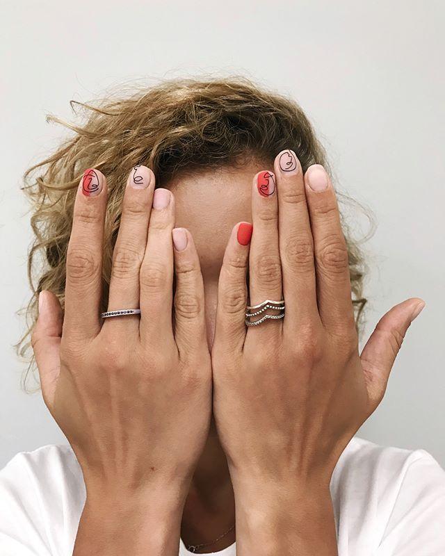 женские ногти прикольный фото