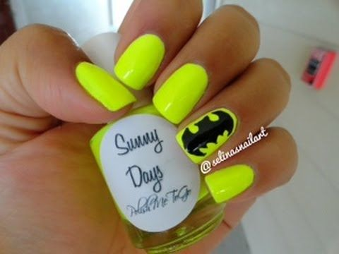 How to: Batman Nail Art