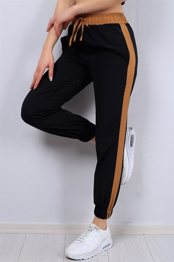 26 95 Tl Seritli Siyah Bayan Pantolon 12658b Modamizbir Pantolon Siyah Spor Giyim