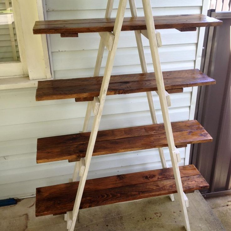 diy pallet a frame ladder shelf i have an idea to put a brace on either side of the leg supports to hold the shelf in place and hinge the top so - Wooden A Frame Ladder