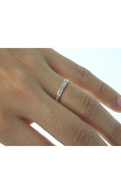 18ct yellow gold princess cut diamond band from Walker and Hall Jeweller - Walker & Hall