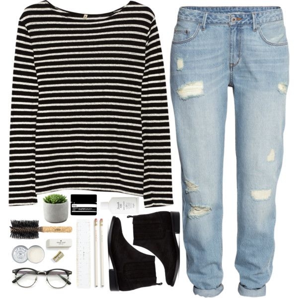 Untitled #1 by briartate on Polyvore featuring R13, H&M, Opening Ceremony, Aesop, Jack Wills, Fresh, Ibiza Hair, Kate Spade, stripes and booties