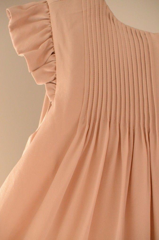 Girl's peach dress - Leopold and Livia - Via Little Scandinavian
