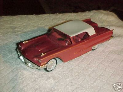 1958 Ford Thunderbird Coupe promo model & 23 best Ford Thunderbird promo models images on Pinterest   Ford ... markmcfarlin.com