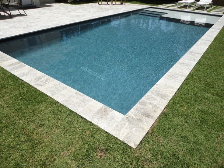 rectangle residential pool with zero degree entry yahoo search results - Rectangle Pool