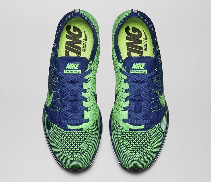 81d2ac8fc3559 ... coupon code for kicks of the day nike flyknit racer brave blue poison  green e8c7d bf0d7