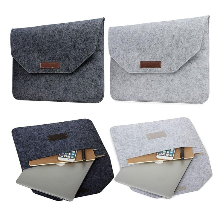[Visit to Buy] Pure Wool Felt For Macbook Pro Retina 13 15 Sleeve Bag Notebook Flip Laptop Cover For Macbook Air 11 12 13 Handle Case Capa Para #Advertisement
