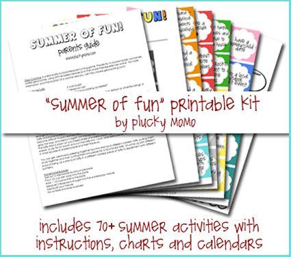 free summer of fun printable kit - Fun Printables