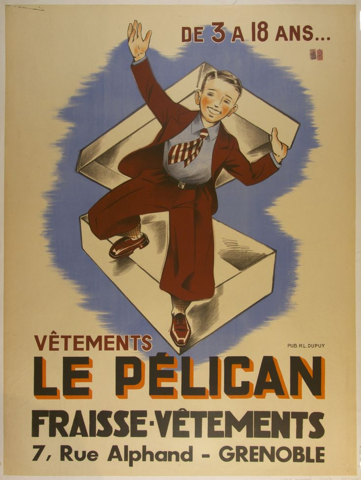 Le Pélican / France - c. 1935 / 47 x 63 in (119 x 160 cm) / from 3 to 18 years  Le Pélican clothing.