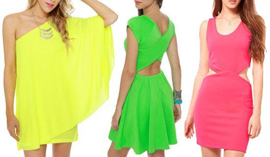 neon dress inspirationBeautiful Neon, Neon Summer, Neon Clothing, Cocktails Dresses, Dresses Inspiration, Neon Fashion Summer Dresses, Grad Dresses, Neon Clothes'S Lov, Neon Dresses 3