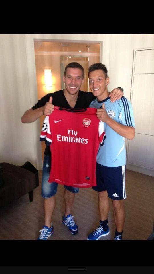Arsenal - Ozil and Poldoski