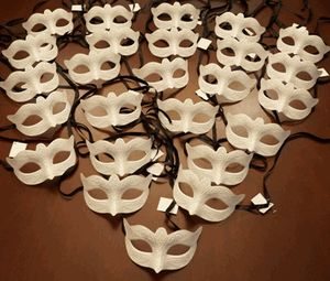 Venetian Masks Unpainted Party Pack so that we can have them to be decorated at the shower, or to hand out if people show at the ceremony maskless.